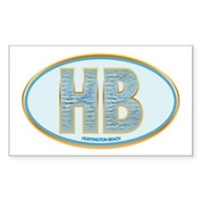 Fancy Blue HB Rectangle Decal