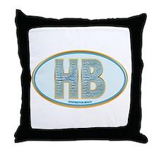 Fancy Blue HB Throw Pillow