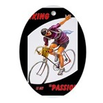 Biking is My Passion, Bicycle Riding Print Oval Or
