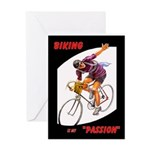 Biking is My Passion, Bicycle Riding Print Greetin