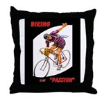 Biking is My Passion, Bicycle Riding Print Throw P