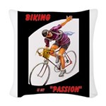 Biking Is My Passion, Bicycle Woven Throw Pillow