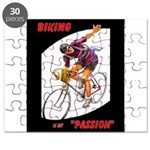 Biking is My Passion, Bicycle Riding Print Puzzle
