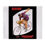 Biking is My Passion, Bicycle Riding Print Throw B