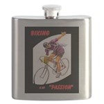 Biking is My Passion, Bicycle Riding Print Flask