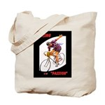 Biking is My Passion, Bicycle Riding Print Tote Ba