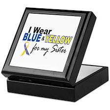 I Wear Blue & Yellow...2 (Sister) Keepsake Box