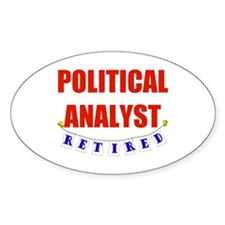 Retired Political Analyst Oval Sticker (10 pk)