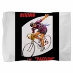 Biking is My Passion, Bicycle Riding Print Pillow