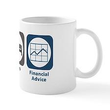 Eat Sleep Financial Advice Mug