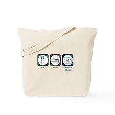 Eat Sleep Financial Advice Tote Bag
