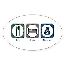 Eat Sleep Finance Oval Sticker (10 pk)
