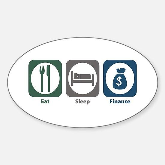 Eat Sleep Finance Oval Decal