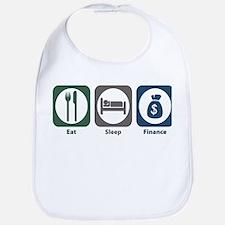 Eat Sleep Finance Bib