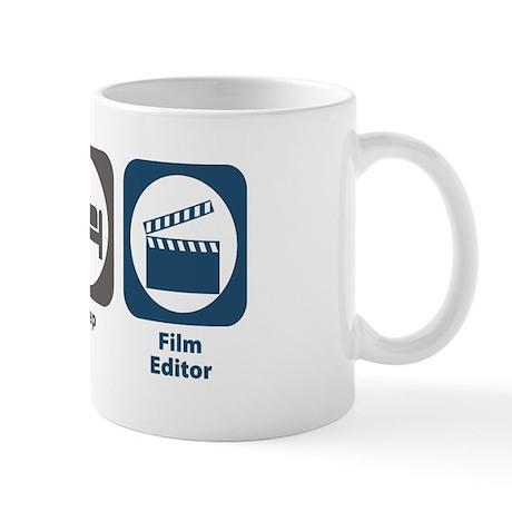 Eat Sleep Film Editor Mug