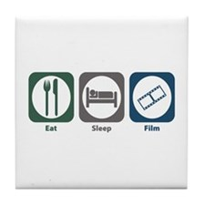 Eat Sleep Film Tile Coaster