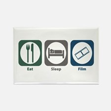 Eat Sleep Film Rectangle Magnet