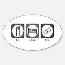 Eat Sleep Film Oval Decal