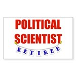 Retired Political Scientist Rectangle Sticker 10