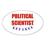 Retired Political Scientist Oval Sticker (50 pk)