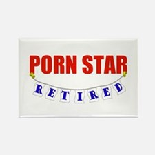 Retired Porn Star Rectangle Magnet