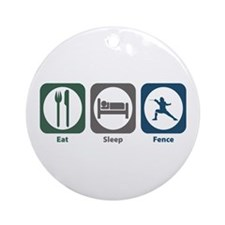 Eat Sleep Fence Ornament (Round)
