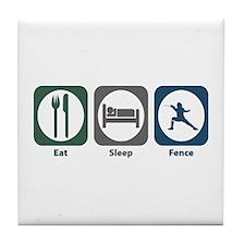 Eat Sleep Fence Tile Coaster
