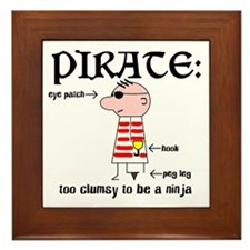 Clumsy Pirate Framed Tile