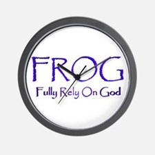 Fully Rely on God Wall Clock