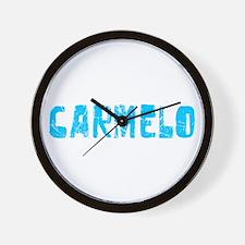 Carmelo Faded (Blue) Wall Clock