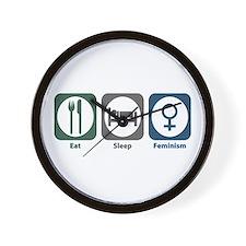 Eat Sleep Feminism Wall Clock