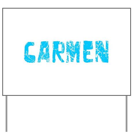 Carmen Faded (Blue) Yard Sign