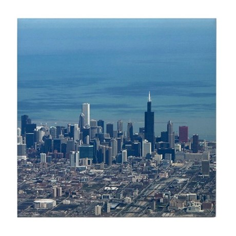 Aerial Chicago Tile Coaster