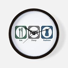 Eat Sleep Fashion Wall Clock