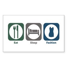 Eat Sleep Fashion Rectangle Decal