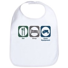 Eat Sleep Farm Equipment Bib