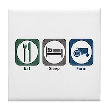 Eat Sleep Farm Tile Coaster