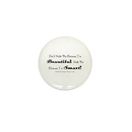 Smart and Beautiful Saying Mini Button