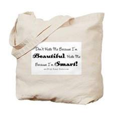 Smart and Beautiful Saying Tote Bag