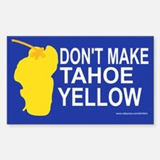 Yellow Tahoe Rectangle Decal