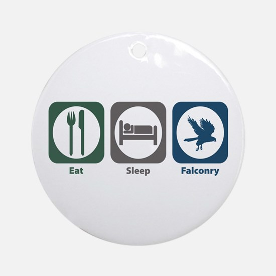 Eat Sleep Falconry Ornament (Round)