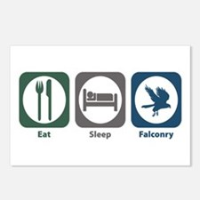 Eat Sleep Falconry Postcards (Package of 8)