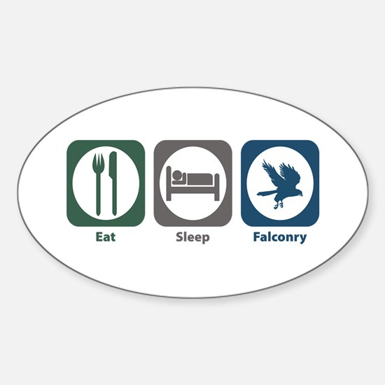 Eat Sleep Falconry Oval Bumper Stickers