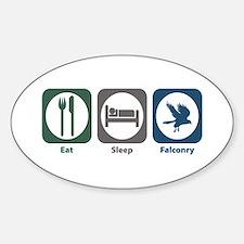 Eat Sleep Falconry Oval Decal