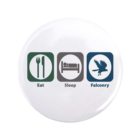 "Eat Sleep Falconry 3.5"" Button (100 pack)"