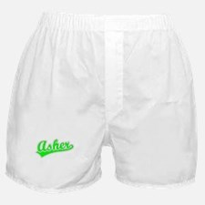 Retro Asher (Green) Boxer Shorts