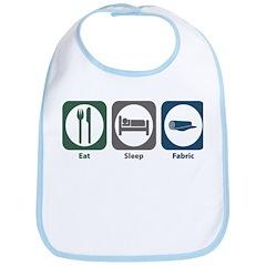 Eat Sleep Fabric Bib