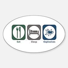 Eat Sleep Explosives Oval Decal