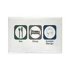 Eat Sleep Exhibit Design Rectangle Magnet