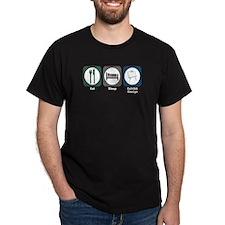 Eat Sleep Exhibit Design T-Shirt